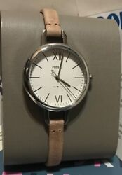 Fossil Women#x27;s Mini 30mm Annette Three Hand Sand Leather Watch ES4361 NEW $35.73