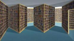 Patrick Hughes (b. 1939) Fiction Section 1994 oil on board construction handS