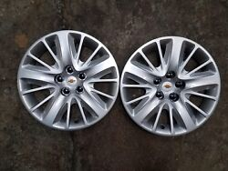 Pair Of 2 New 2014 14 2015 15 Impala 18 Hubcaps Wheel Covers 3299 Free Shipping