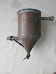 Vintage Boat,ship Part,copper Filter-type Pot,9tall,4 1/4diam.