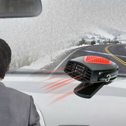Portable 12V Auto Car Ceramic Heater Heating Cooling Fan Defroster Demister Red