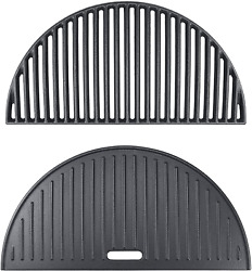 Half Moon Cast Iron Griddle And Cooking Grate For Large Big Green Egg Kamado Joe