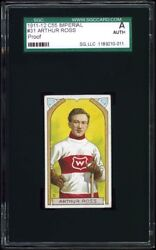 1911-12 C55 Imperial Tobacco #31 Art Ross PROOF SGC Authentic ~ One-of-a-kind!