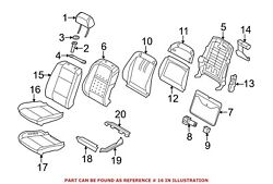For Bmw Genuine Seat Cover Front Right 52107277387