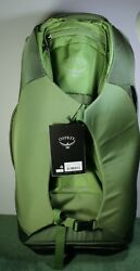 """NEW wTag Osprey Sojourn 60L 25"""" Nitro Green Rolling Convertible Travel Backpack"""