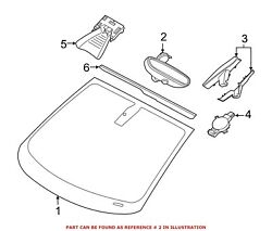 For Bmw Genuine Interior Rear View Mirror Front 51169317143
