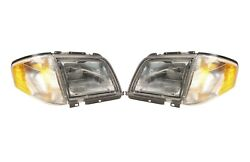 Left & Right Marelli Halogen Headlights Lamps Pair Set For Benz R129 SL-Class