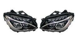 Left And Right Marelli Dynamic Led Headlights Headlamps Pair Set For Mercedes W205