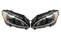 Left Right Genuine Mb Static Led Headlights Headlamps Pair Set For W204 C63 Amg