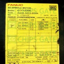 1pcs Used Fanuc A06b-0853-b394 Tested In Good Condition