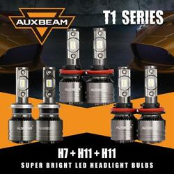 6x AUXBEAM H7+H11+H8H11 LED Headlight Fog Bulbs for Hyundai Santa Fe 2013-2016