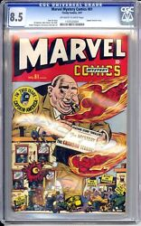 Marvel Mystery 81 Cgc 8.5 Vf+ Captain America Cool Cover Nice Ow/w Pages