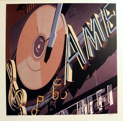 Robert Cottingham, American Signs Ame, Serigraph, Signed And Numbered