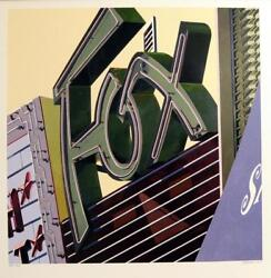 Robert Cottingham American Signs 2009 Fox Serigraph, Signed And Numbered Ed.100