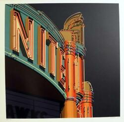 Robert Cottingham American Signs 2009 Nite Serigraph, Signed And Numbered Ed.100