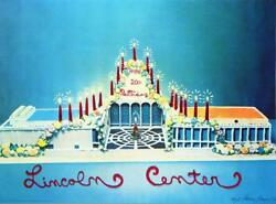 Larry Rivers Lincoln Center Birthday, 1979 Signed And Numbered Edition Of 80