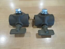 Fits Jeep Willys Mb Gpw Set Of Top Bow Pivot With Thumbscrew Thumb Screw