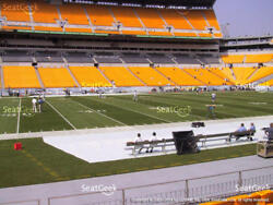 2 Lower Level Sideline Pittsburgh Steelers PSL's PSL - Section 109 Row Z