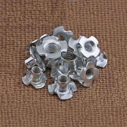 T Nut Galvanized Steel Furniture Four Claw Enchase Nuts M3 M4 M5 M6 M8 M10 T-nut