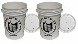 6.5 Gallon Plastic Fermenter With Lid 2-pack