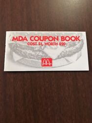 Vintage Charity Mcdonalds Muscle Dystrophy Association Coupon Book Mda 1990 Rare