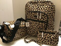 Vera Bradley  Large Campus Backpack & Stay Cooler & Petite Crossbody LEOPARD NEW