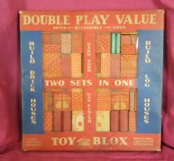 Vintage 1930/40s Toy Blox Wood Toy Building Blocks Made In U.s.a.