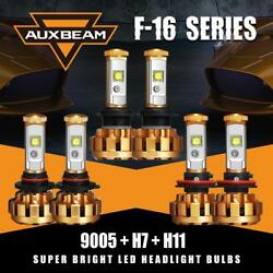 Auxbeam 9005+H7 Hi&Lo LED Headlight +H11 Fog Bulb for 06-13 Suzuki Grand Vitara