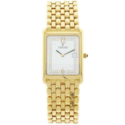Concord VENETO Men's 18K Yellow Gold Watch 50-46-625 MSRP $15,900.00 35x25mm