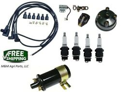Tune Up Kit Ford 8n Tractor Side Mount Distributor Ignition Kit W/ 12v Coil