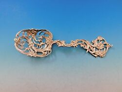 And Co. Sterling Silver Ice Spoon With Pierced Flowers 7 3/4