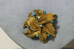 ESTATE CARTIER TURQUOISE 18K YELLOW GOLD VINTAGE BROOCH PIN FREE US SHIP