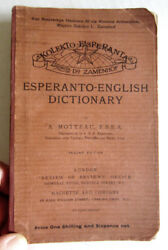 Early Esperanto-English Dictionary A. Motteau London 1906 Ludwig Zamenhof Rare