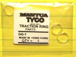 Tyco Gg1 Made In Hong Kong Traction Ring / Tire, Set Of 3 Tires Set New In Pack