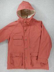 Woolwich Vintage 60/40 Lined Mountain Alpine Jacket Mens Large Blush Red
