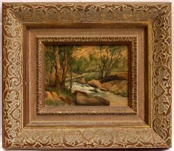 Magnificent 1950's Oil On Board Painting By John Fabion Listed Artist