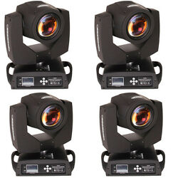 4x 7r 230w Beam 512 16 Ch Stage Moving Head Light Zoom Gobo Party Dj Lighting