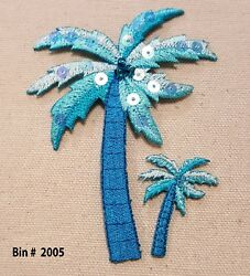 200 Wholesale Lot Coconut PALM TREE IRON ON SEW ON EMBROIDERED PATCH 3 78