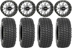 System 3 St-3 Machined 14 Wheels 28 Xcr350 Tires Polaris Rzr Turbo S / Rs1