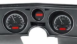 1969 Chevelle El Camino Dakota Digital Black Alloy And Red Vhx Analog Gauge Kit