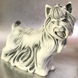 Yorkshire terrier dog figurine miniature Russia of marble chips of high quality