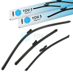 YOU.S Windshield Wiper Wiper Blades Windshield Wiper Set Front+Rear for Seat