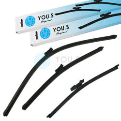 YOU.S Windshield Wiper Blades Set Front+Rear for Seat  VW
