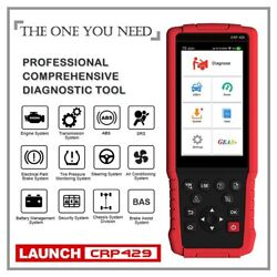 Launch Crp429 Obd2 Scanner Diagnostic Scan Tool Srs Abs Full System Code Read...