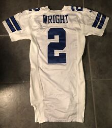 Dallas Cowboys Anthony Wright Game Issued 2000 Nike Jersey Size 44l Landry Patch