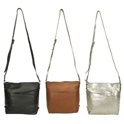 LADIES CLARKS TOPSHAM CHARM CASUAL CROSS BODY BAGS LEATHER EVERYDAY EVENING ZIP $73.52