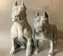 Staffordshire Bull Terrier dogs Figurines marble chips high quality