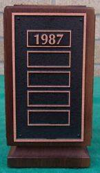 Lsu Middleton Library Memorial Tower Wood And Metal Desk Decoration Paper Weight