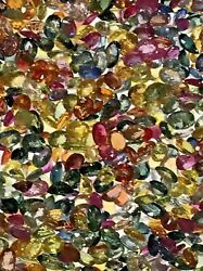 Gemstone Fancy Sapphire Natural Mixed Multi-colors Good Grade Jewelry 10 Carats