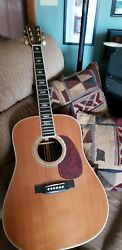 Martin D40 With Electrical Pickup And Hard Case.